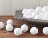 BULK Spun Cotton Balls, 25mm - Vintage-Style Craft Shapes, 100 Pcs.