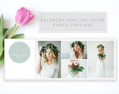 Facebook Timeline Cover Photoshop Template Design 2  INSTANT DOWNLOAD