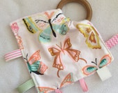 Wild Butterflies Teething Taggie - Perfect Baby Shower Gift!