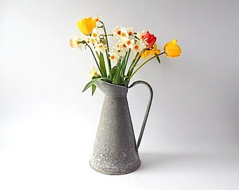 French Vintage Pitcher in Natural Zinc
