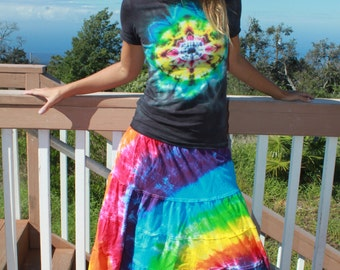 Tie dye Tiered skirt