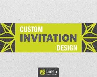 Custom Invitation Design & Save the Date, Custom Design, Birthday Invitation, Shower Invitation, Wedding Invitation, Printable Invitation