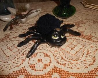 Cute Halloween Black Spider Handmade Ceramic Table Centerpiece
