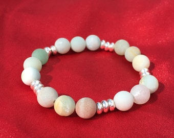 Everything's Beachy Amazonite and Silver Bracelet