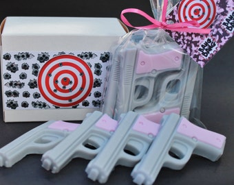 SALE Pistol/Gun Soap-Grey and Pink 4 pieces