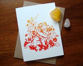 ART CARD - Autumn Collie - Fall Season