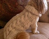 Dog Sweater - Classic Fisherman Cable Knit - Aran