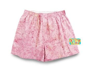 Pink Pajama Birthday Gift Shorts, Womens Pajamas, Woman Gift Birthday PJs, Pink Floral Sleepshorts