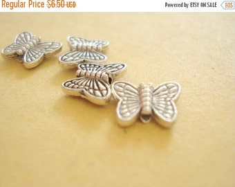 50% OFF Moving Sale - Wholesale Bulk 90pcs Antiqued Pewter Butterfly Bead (10x8mm) S127