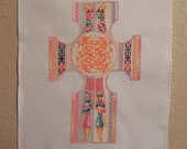 Celtic Knots Cross Cross-Stitched Picture
