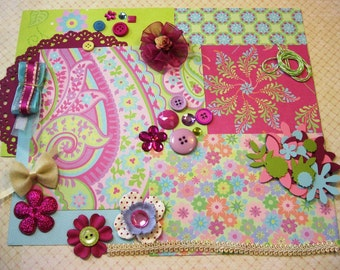 K & Co. Inspiration Kit Embellishment Kit Life Project Kit for Scrapbooking Cards Mini Albums and Papercrafts 2