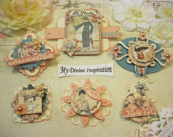Graphic 45 Handmade A Ladies Diary Scrapbook Embellishments Paper Embellishments for Scrapbook Layouts Cards Mini Albums Tags Paper Crafts