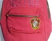 Harry Potter Backpack, Crystal Backpack, Back Pack,Custom Backpack, Slytherin Bookbag, Custom Bookbag,Gryffindor