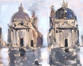 Piazza del Popolo, Rome Italy Painting Original
