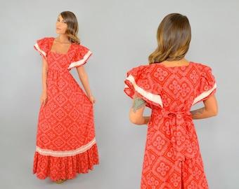 70's Bandana MAXI Dress