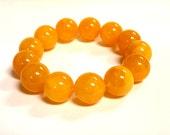 Baltic Amber Antique Butterscotch Ball Beads Bracelet Reconstructed 19 mm 36.9 gram