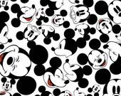 Disney Mickey Many Faces Knit Fabric, 1 yard