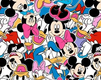 Disney Mickey and Friends Knit Fabric, 1 yard