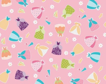Dream and a Wish Fabric, Dream Dresses Pink by Riley Blake, 1 yard