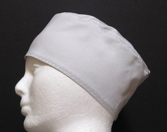 Mens Scrub Hat, Surgical Cap or Chefs Cap Light Grey