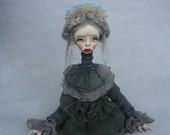 Reserved Nicol Art doll OOAK doll Clay art doll Paper clay doll Collecting doll Human figure doll Hand made doll