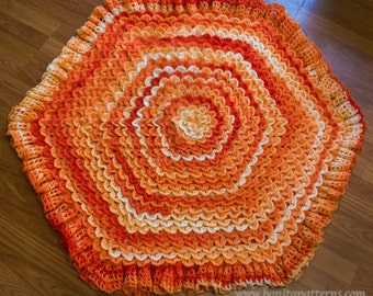 Crocodile Stitch Hexagonal Baby Blanket
