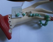 Reserve for Gene Vintage Jade Bracelet, 925 Sterling Butterfly Clasp with matching 925 Jade Earrings