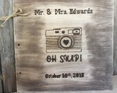 OH SNAP! Personalized Rustic Wedding Guest-Photo Book - Cute Camera Details