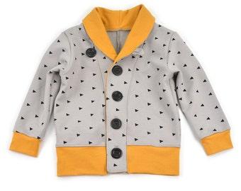Kids cardigan sewing pattern Grandpa cardigan pdf download sizes 0-3M to 5-6T -Pattern 72