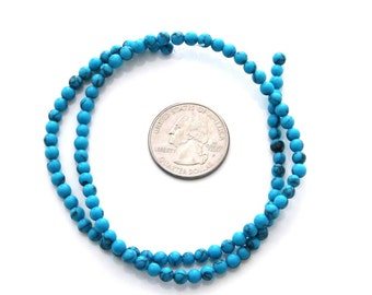 One Full Strand Imitation Blue Turquoise Beads Jewelry Finding For Handwork  ja464