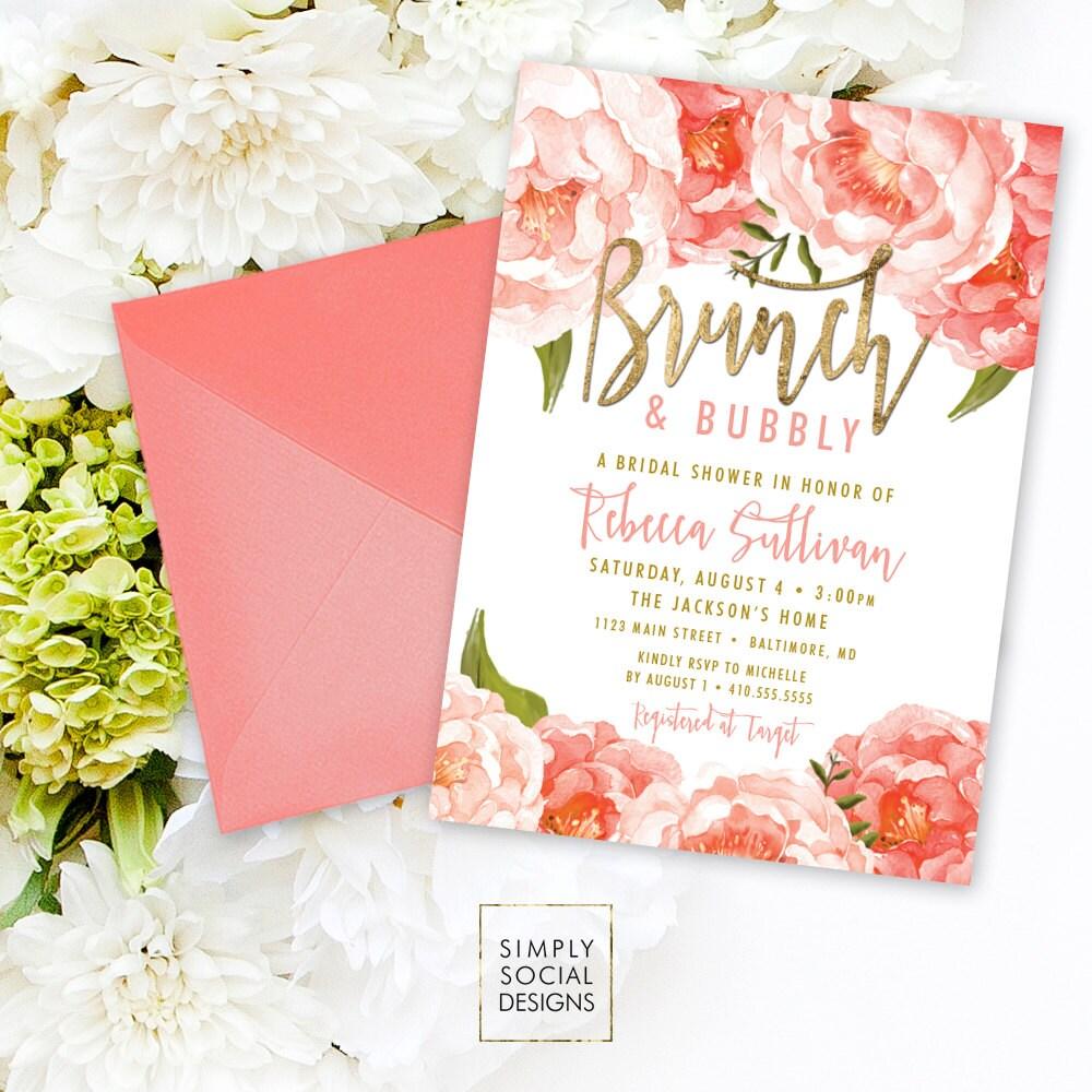 il_fullxfull.970809600_jixy brunch and bubbly bridal shower invitation peach peony,Peach Bridal Shower Invitations