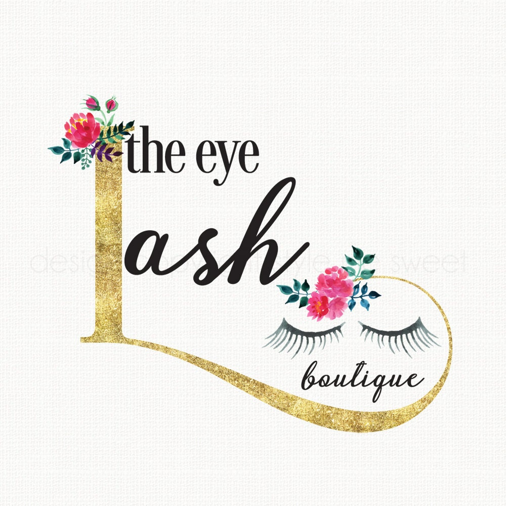 eyelash extension salon logo design beauty logo design premade logo design beauty consultant logo bespoke logo design makeup artist logo - Nail Salon Logo Design Ideas