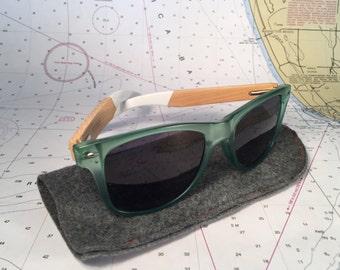 Bamboo wood Translucent Sunglasses