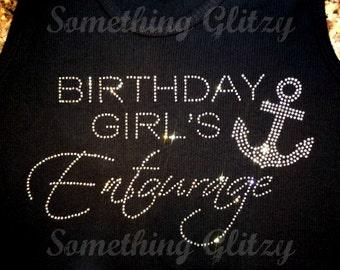 Birthday Girls Entourage, Birthday Entourage, Birthday Cruise Bling, Birthday Entourage with Anchor, Anchor Bling, Birthday Entourage Bling