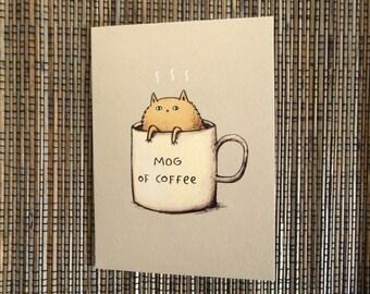 Mog Of Coffee Card