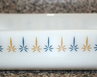 Lovely Vintage Fire King Anchor Hocking Candle-Glow Milk Glass Loaf Pan So Nice!