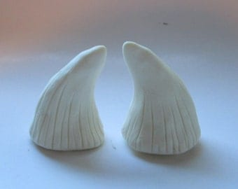small pan horns, hand painted, natural color, bone colors, small spike horn, glue, string or headband, satyr, fairy horns