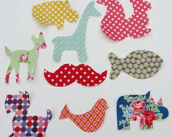 10 Assorted Baby Girl Iron On Appliques Baby Shower Activity