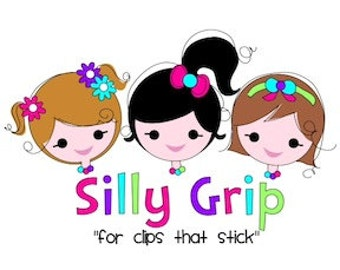 SILLYGRIP-Silly Grip No Slip Silicone Grips-Hair Bows-Hair Clips-Children's Hair Bows-