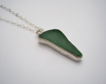 Sea Glass Necklace, Beach Glass Necklace, Poros Collection