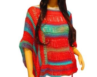 Serape Poncho, Womens Poncho, Boho Poncho, Funky Poncho, Plus Size Clothing,  Etsy Poncho, Women Ponchos, Hippie Poncho, Festival Clothing