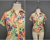 1970s Cos Cob Bright Print Shirt