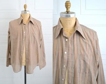 1980s B.V.D. Striped Shirt