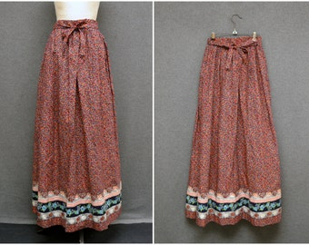 1970s Anne Fogarty Maxi Skirt