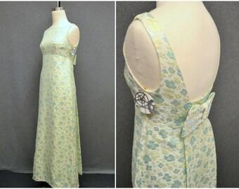1960s Brocade Column Dress
