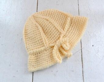 1960s Cream Knit Hat