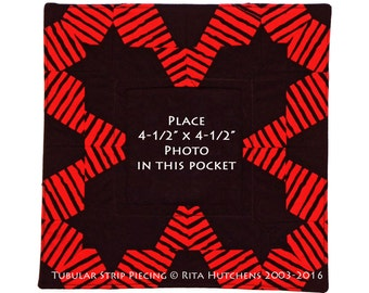 PICTURE FRAME / Tubular Strip Piecing / Rita Hutchens