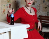 Red fifties class dress by TiCCi Rockabilly Clothing