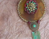 Rusty Washer with Flower Necklace