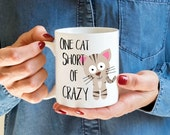 Funny Cat Mug - Crazy Cat Lady - Kitty Mug - Cat Coffee Mug - Unique Coffee Mug - Gift for her - Kitten Mug - Cat Lover Mug